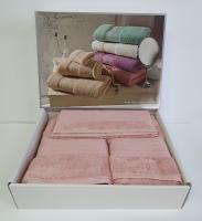 Набор полотенец Maison D'or 3 шт Exellence Rose розовый