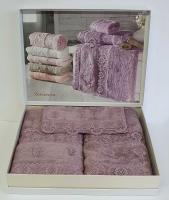 Набор полотенец Maison D'or 3 шт Intensive Bamboo Lilac