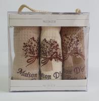Полотенца Maison D'or 6 шт Bouquet Natur