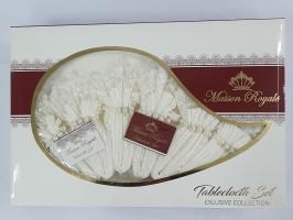 Скатерть KDK Set Maison Royale 160x400+12 psc Cream