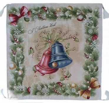 Скатерть новогодняя гобеленовая квадратная Sagol 140х140 ST-136