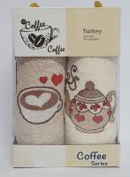 Набор кухонных махровых полотенец 2шт Coffe Series-2