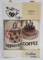 Набор кухонных махровых полотенец 2шт Coffe Series-3