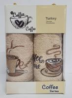 Набор кухонных махровых полотенец 2шт Coffe Series-4