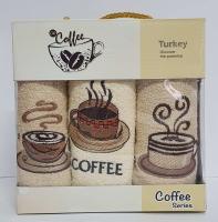 Набор кухонных махровых полотенец 3шт Coffe Series-3