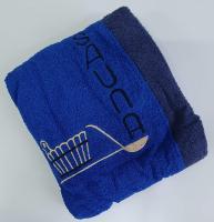 Набор для сауны с тапочками мужской синий