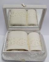 Набор полотенец в шкатулке Minteks Krem