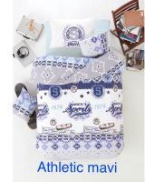 Постельное белье Altinbasak ранфорс 160x220 Athletic mavi