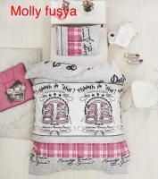 Постельное белье Altinbasak ранфорс 160x220 Molly fusya