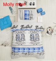 Постельное белье Altinbasak ранфорс 160x220 Molly mavi
