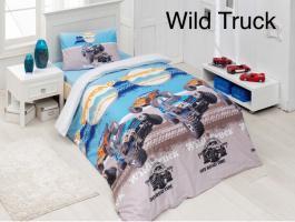 Постельное белье Altinbasak ранфорс 160x220 Wild Truck