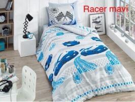 Постельное белье Altinbasak ранфорс 160x220 Racer mavi
