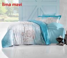 Постільна білизна Altinbasak сатин 200x220 Ilma mavi