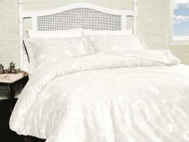 Постельное белье First Choice сатин 200x220 Carmina Beyaz