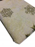 Скатерть новогодняя овальная гобеленовая Sagol 160х220 ovale ST-161 Sari