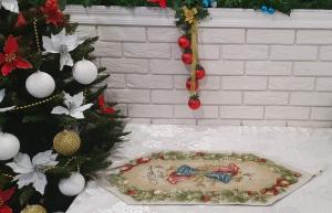 Скатертина доріжка Sagol новорічна 35х145 ST-136