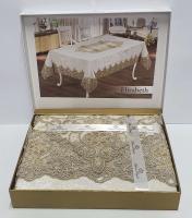 Скатерть Велюровая Maison Royale 160x220 Elizabeth Cream