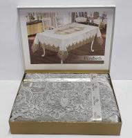 Скатерть Велюровая Maison Royale 160x220 Elizabeth Grey