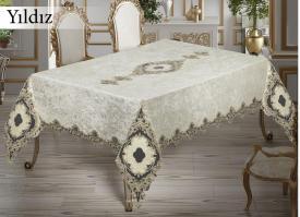 Скатерть Велюровая Maison Royale 160x300 Yildiz Cream