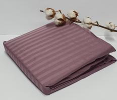 Простынь на резинке с наволочками AE Cotton 180x200 Темно-фиолетовая