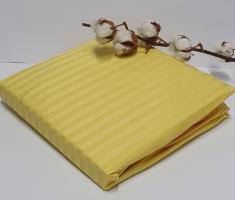 Простынь на резинке с наволочками AE Cotton 180x200 Желтая