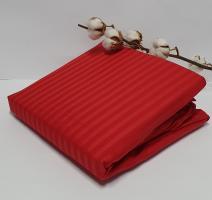Простынь на резинке с наволочками AE Cotton 180x200 Красная