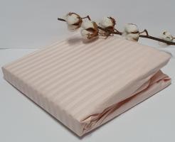 Простынь на резинке с наволочками AE Cotton 180x200 Персиковая