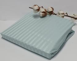 Простынь на резинке с наволочками AE Cotton 180x200 Голубая