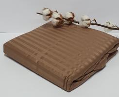 Простынь на резинке с наволочками AE Cotton 180x200 Коричневая