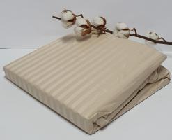 Простынь на резинке с наволочками AE Cotton 180x200 Бежевая