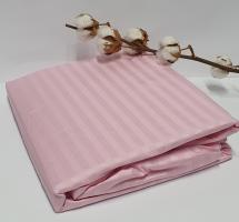 Простинь на резинке AE Cotton 160x200 + наволочки Розовая