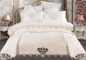 Набор покрывало с постельным бельем Ayberk Dilan Krem