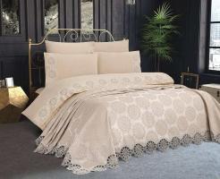 Набор покрывало с постельным бельем Ayberk Ahenk Bej