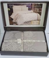 Набор покрывало с постельным бельем Ayberk Ahenk Gri