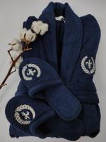 Халат мужской Maison D'or Seymour Navy Lacivert Синий S