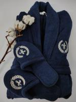 Халат мужской Maison D'or Seymour Navy Lacivert Синий XL