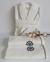 Халат набор мужской Maison D'or Marine White S (Белый)