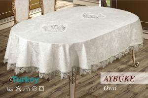 Скатерть велюр Sagol 160x220 ovale Aybuke