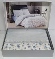 Постельное белье Maison D'or ранфорс Maiolaine  200х220 Blue