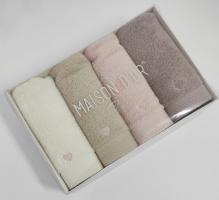 Полотенца Maison D'or 4шт Micro Cotton Soft Embroidery 30x50