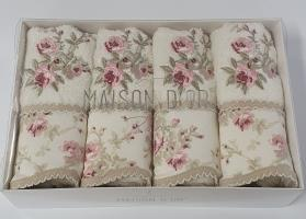 Рушники Maison D'or 4шт Lady Roses 30x50 Ecru