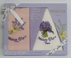 Подарочный набор кухонных полотенец Maison D'or Lavander Pink-White
