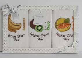 Подарунковий набір кухонних рушників Maison D'or Fruit 2