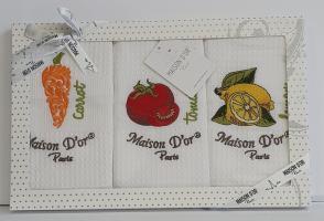 Подарунковий набір кухонних рушників Maison D'or Vegetables