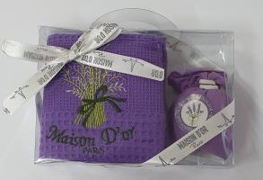 Подарочный набор кухонных полотенец Maison D'or Lavanta Dark Lilac