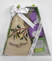 """Подарочное кухонное полотенце+мило саше Maison D'or """"Olive"""" Beige"""