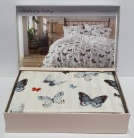 Постельное белье Maison D'or сатин 200х220 Butterfly Valley Blue
