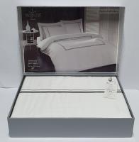 Постільна білизна Maison D'or сатин 200х220 Chemin Embrodery White