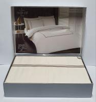 Постельное белье Maison D'or сатин 200х220 Chemin Embrodery Ecru