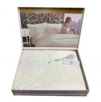 Постельное белье Maison D'or сатин с кружевом 200х220 Helena Ekru